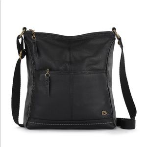 The Sak Black Iris Leather Crossbody Bag